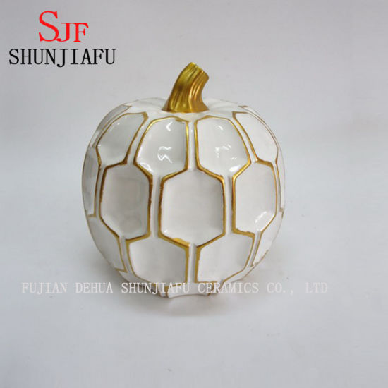 Factory Direct Ceramic Halloween Pumpkin Figurine for Decoration