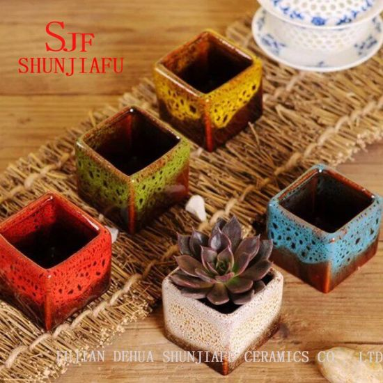 Home Decoration Ceramic Flower Pot with Different Color