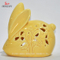 Little Yellow Rabbit Christmas Gifts & Decor Ceramic Tealight Candle Holder Set