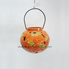 Harvest Joy Ceramic Pumpkins Shape Lantern Ceramic pumpkin hollowed-out lantern