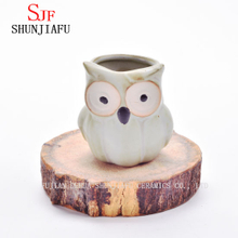 Factory Direct Small Ceramic Owl Flower Pot