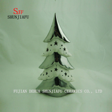 Tabletop Ceramic Lighted Plating Ceramic Electroplating Xmas Tree