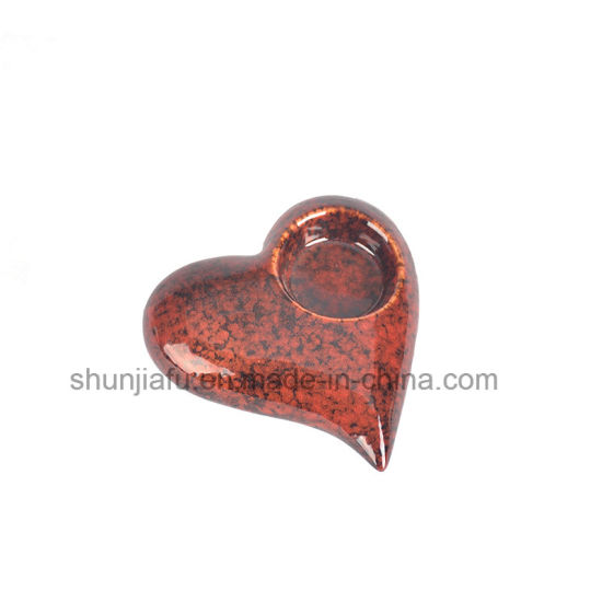 Love Decoration Ceramic Heart Shape Candle Holders