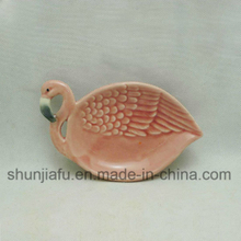 Ceramic Flamingos Dinner Plates Dish