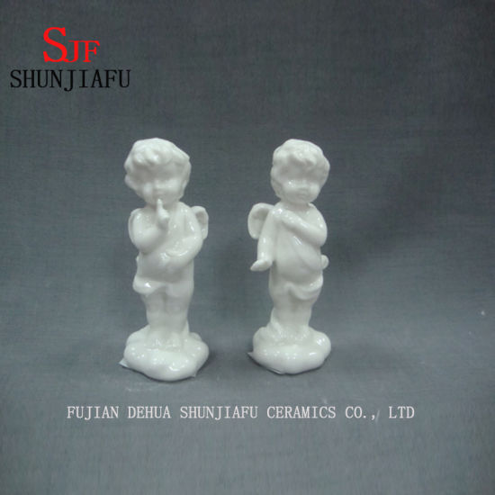 Cute Cupid Arrow Cherub Is at One′s Prayer Ceramic Design