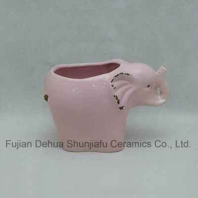 Ceramic Elephant Type Flowerpot for Garden Decoration