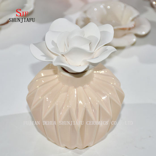 Ceramic Burner Aromatherapy Diffuser Tealight Fragrance Holder with Flower/a