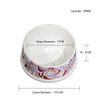 Bone style Dog footprints water bowl grain bowl lovely pet products single bowl ceramic bowl