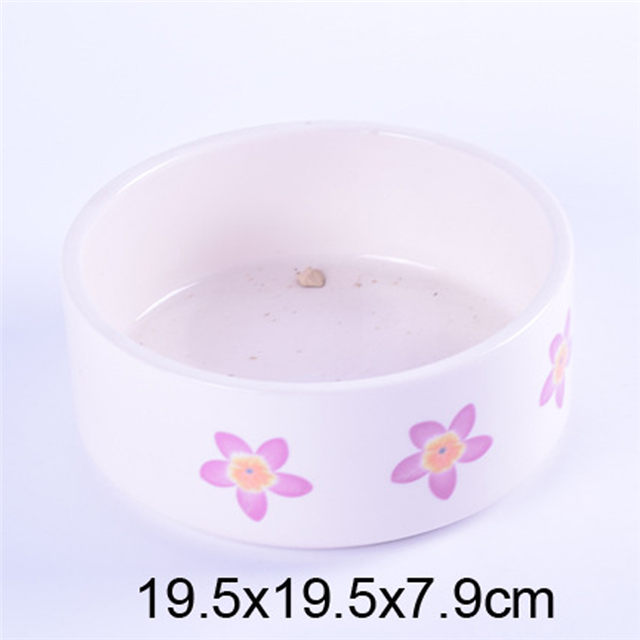 Coco Exclusive Use Pink Ceramic Pet Feeder Ceramic Dog Bowl