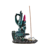 blue color With both Buddha's-hand Flower Style Backflow ceramic censer ceramic Backflow Incense burner