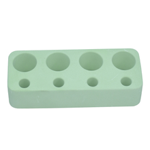 Green Horizontal Plate 4 Holes Diatomite Toothbrush Holder