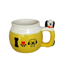 Puppy Expression style design Design Ceramic Ice Cream Bowls Set Dessert Ceramic Ice Cream Bowls Ceramic Ice Cream Cup