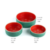 Red Background Printing White Snow Ceramic Pet Bowl Dog Bowl Small Fresh Cat Bowl Round Pet Bowl