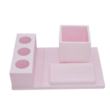 Pink Bathroom Suit Horizontal Plate 4 Holes Diatomite Toothbrush Holder Toothbrush Holder Soap Dish Etc Suit