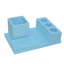 Blue Bathroom Suit Horizontal Plate 4 Holes Diatomite Toothbrush Holder Toothbrush Holder Soap Dish Etc Suit