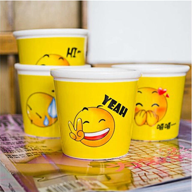 All Kinds of Expressions Design 3D Ceramic Ice Cream Cup