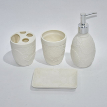 White Color Set Four Bathroom Sanitary Bathroom Accessories Ceramic Bathroom Accessory Set
