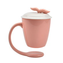 Different Color Home Decoration Custom Suspending mugs Floating Ceramic Coffee Mug With Handle and Lid