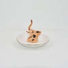 Rose Golden Elephant Style Decor Gift Trinket Tray Ceramic Wedding Ring Holder Jewelry Display Tray