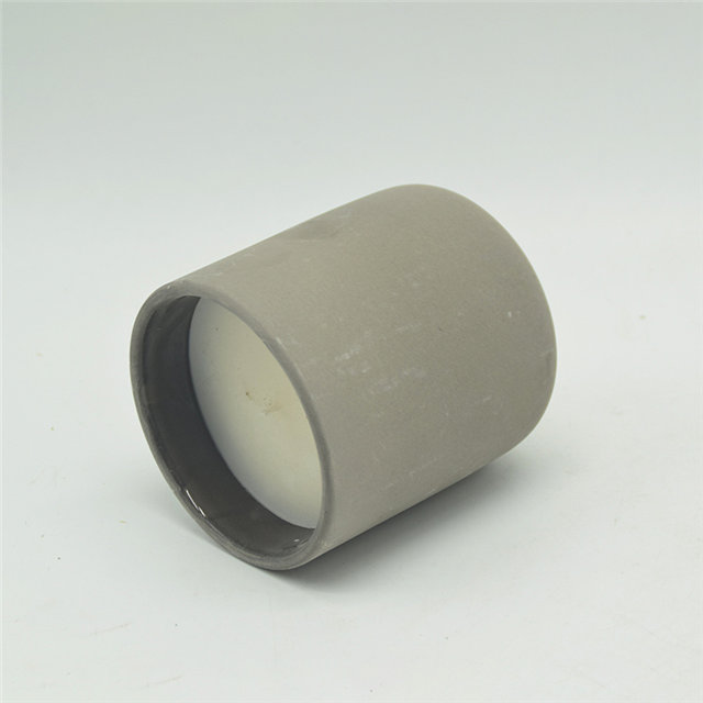 Light grey ceramic candle cup