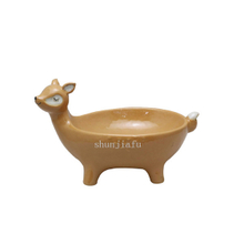 LightPink Four Leg Ceramic Fox Bowl