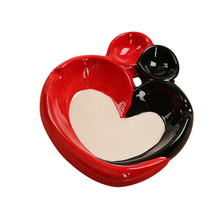 Ceramic Ashtray | Ace Of Hearts Card Heart to heart ceramic ashtray